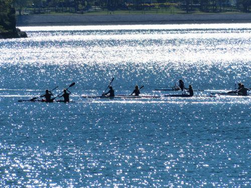canoeists canoe tour canoes