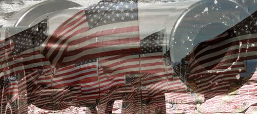 Canon And American Flags