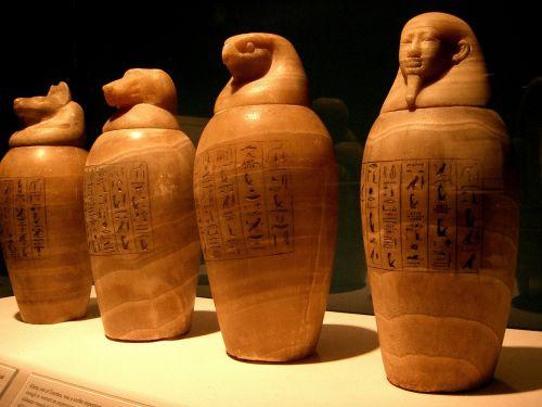 canopic jars egypt egyptian
