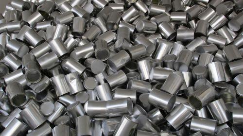 cans texture aluminum