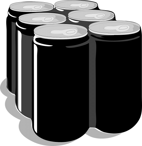 cans tins six-pack