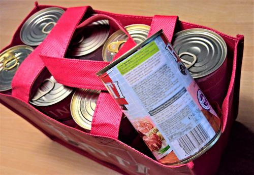 cans dog food meat