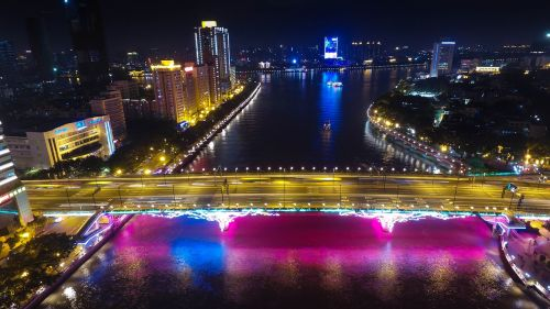 canton the liberation of the bridge night view