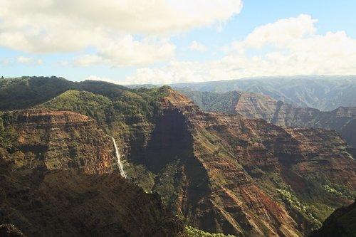 canyon  water fall  falls