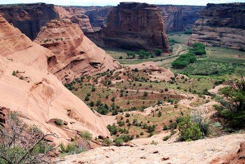 Canyon, de Chelly, JAV, tarpeklis, kraštovaizdis, Arizona, Nacionalinis parkas, paminklas, akmuo, uolos, dykuma, slėnis, Lankytinos vietos, geologija, erozija, kelionė, raudona, upės slėnis, Amerika, takas