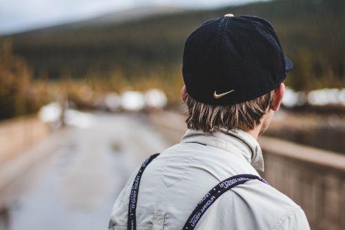 cap facing away fashion