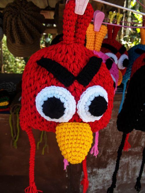 cap knit beanie cap red