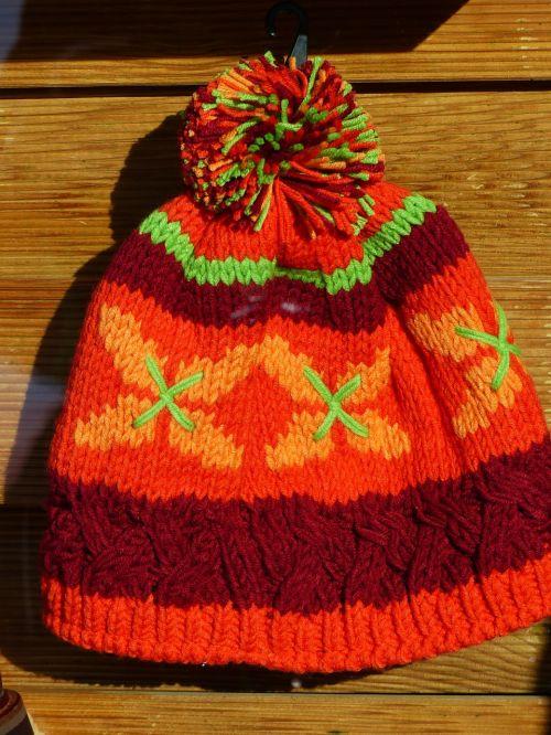 cap colorful orange