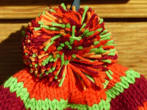 cap bobble colorful