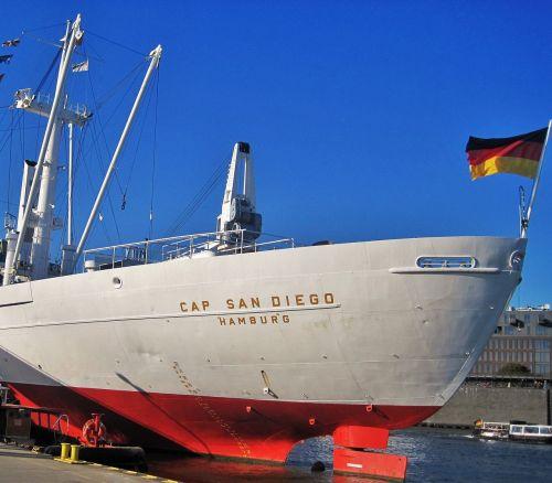 cap san diego ship rear hamburg museum ship