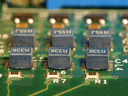 capacitors electronics board
