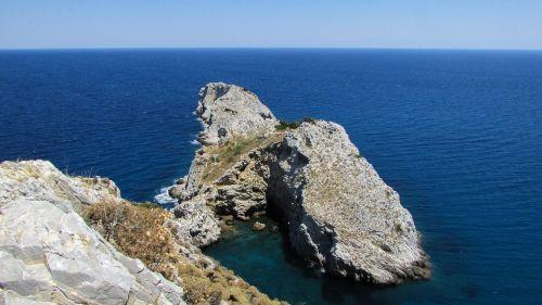 viršūnė,uolos pakrantė,uolos,jūra,horizontas,kranto,sala,gamta,Graikija,slidinėjimas,kastro,geomorfologija,Rokas,pakrantė,kraštovaizdis,Viduržemio jūros