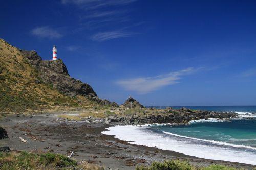 kalno šaulių švyturys,švyturys,Naujoji Zelandija,Wellington,šviesa,švyturys,jūrų saugumas,pakrantė