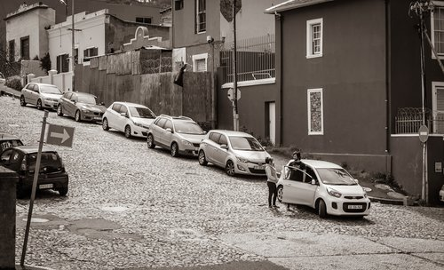 cape town  black and white  road