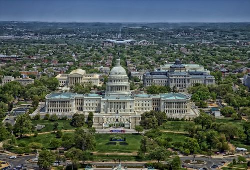 capitol washington dc aerial view