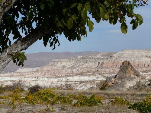 cappadocia landscape basalt