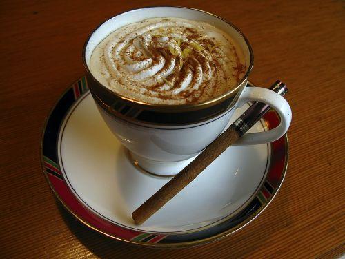 cappuccino cinnamon cup