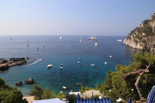 capri  italy  sea