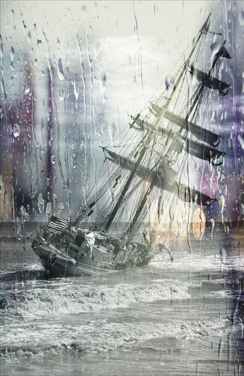 capsize sailing ship stuck