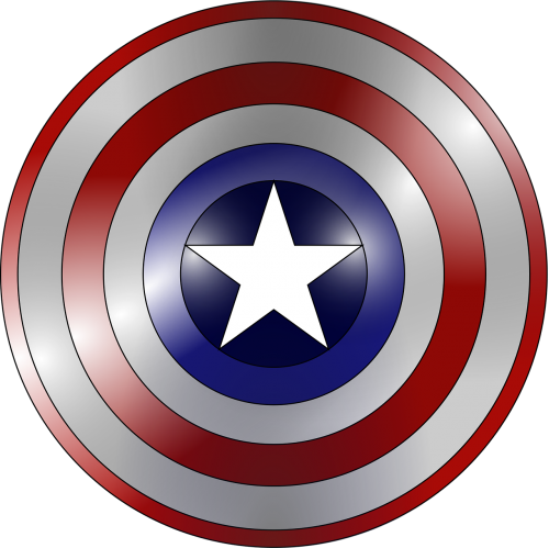 captain america comic book concentric