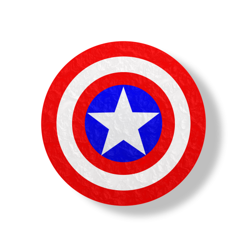 captain america shield red