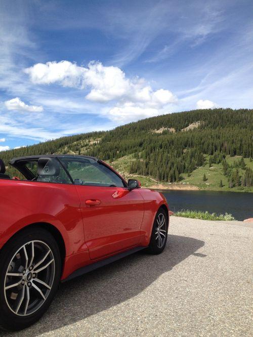 car convertible mountain