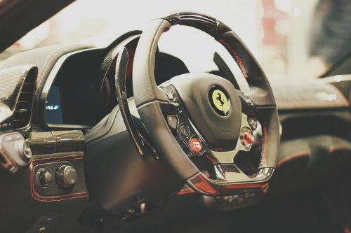 car sports car steering wheel