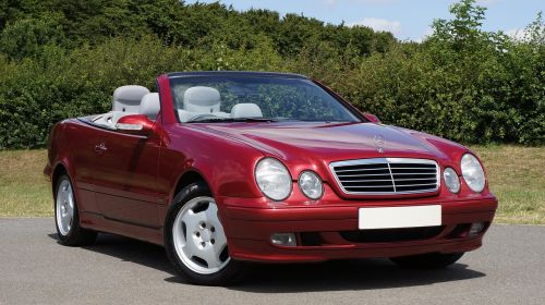 car mercedes-benz red