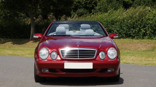 car mercedes-benz red