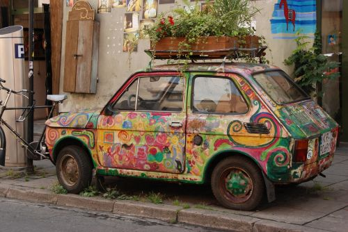 car decoration painted