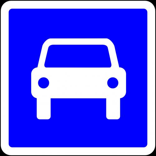 car road sign roadsign