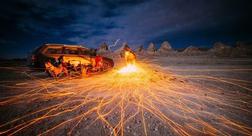 car desert landscape