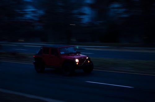 car blur night