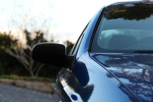 car,side mirror,profile,blue car,front,side,automobile,vehicle,outline,transportation