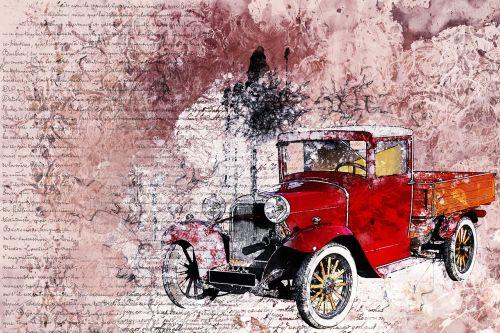 car old car red