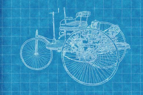 car old car blueprint