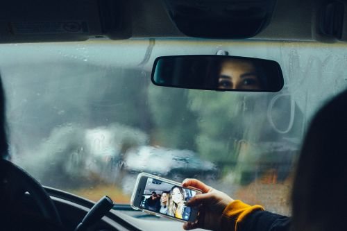 car drive glass