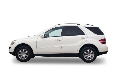 car suv white background