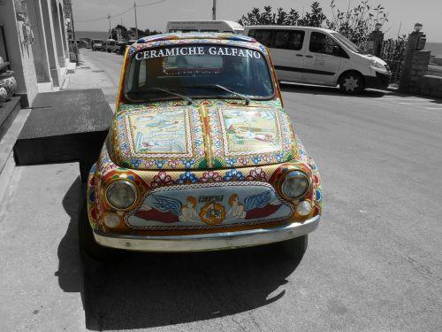 car colored sicily