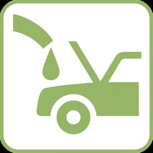 car green oil