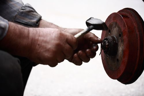 car repairman hands