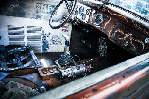 car shiny hot rod