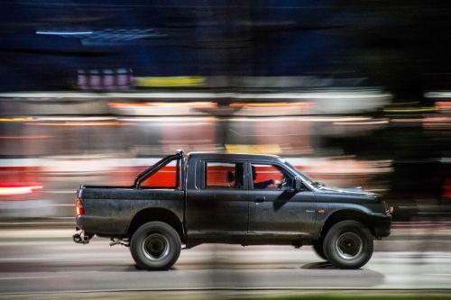 car hurry blur