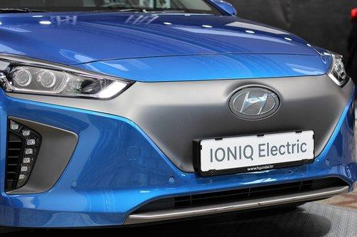 car  hyundai ioniq electric  auto show zagreb 2018