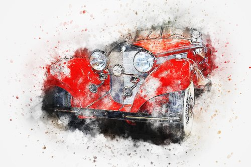 car  old car  art