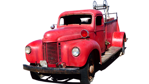 car  firefighter  red