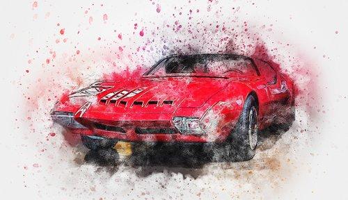 car  red  pontiac