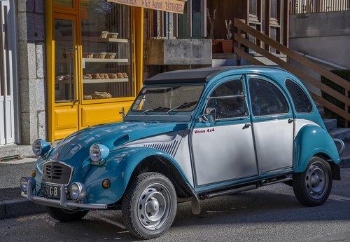 car  2cv  oldtimer
