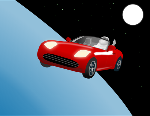 car  roadster  space