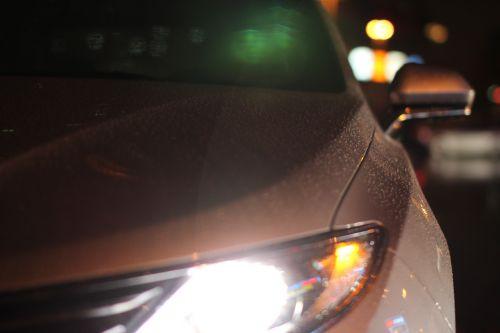 car headlights traffic